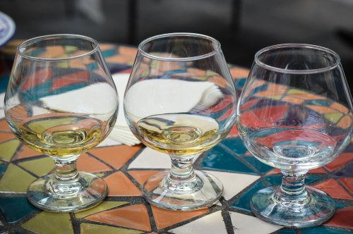 Don Amado mezcales. From left to right: añejo, reposado, and rustico.