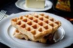 Sourdough Whole Wheat Waffles